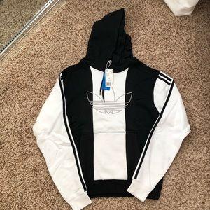 Adidas Black and white hoodie